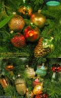 Christmas tree decoration made of glass Fruits