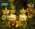 Christmas tree decoration made of glass teddy bears