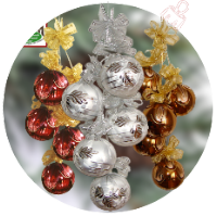 Christmas decoration glass balls deco 5-pc. glass from Lauscha Thüringen
