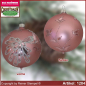 Preview: Christmas tree ornaments glass balls Christmas balls Set 12-pc. Charme with peacock and leaf decor glass from Lauscha Thüringen.