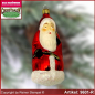 Preview: Christmas tree ornaments Santa Claus with stick and gifts bag glass figure glass shape Collectible