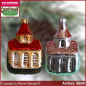 Preview: Christmas tree ornaments Church glass figure glass shape Collectible glass from Lauscha Thüringen.