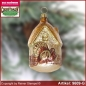 Preview: Christmas tree ornaments House with gobbler glass figure glass shape Collectible
