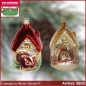 Preview: Christmas tree ornaments House with gobbler glass figure glass shape Collectible glass from Lauscha Thüringen.