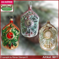 Preview: Christmas tree ornaments Cuckoo Clock glass figure glass shape Collectible Lauscha Glass Art ®.
