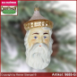 Preview: Christmas tree ornaments Old German Santa Head glass figure glass shape Collectible