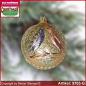 Preview: Christmas tree ornaments ball with love birds glass figure glass shape Collectible
