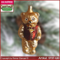 Preview: Christmas tree ornaments bear with vest glass figure glass shape Collectible