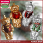 Preview: Christmas tree ornaments bear with vest glass figure glass shape Collectible Lauscha Glass Art ®.