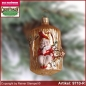Preview: Christmas tree ornaments dwarf in the tree trunk glass figure glass shape Collectible