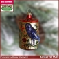 Preview: Christmas tree ornaments bird in the tree trunk glass figure glass shape Collectible