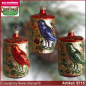 Preview: Christmas tree ornaments bird in the tree trunk glass figure glass shape Collectible glass from Lauscha Thüringen.
