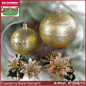 Preview: Christmas decoration glass ball with candles ring and glass stand Eleganz glass from Lauscha Thüringen.