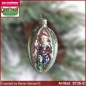 Preview: Christmas tree ornaments Harlequin in Olive glass figure glass shape Collectible