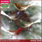 Preview: Christmas tree ornaments glass bird glass figure glass shape Collectible glass from Lauscha Thüringen.