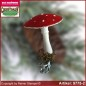 Preview: Christmas tree ornaments toadstool velvet in 3 glass forms glass figure glass shape Collectible