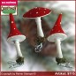 Preview: Christmas tree ornaments toadstool velvet glass figure glass shape Collectible Lauscha Glass Art ®.