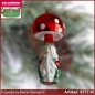 Preview: Christmas tree ornaments toadstool with dwarf glass forms glass figure glass shape Collectible
