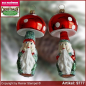 Preview: Christmas tree ornaments toadstool dwarf glass figure glass shape Collectible Lauscha Glass Art ®.