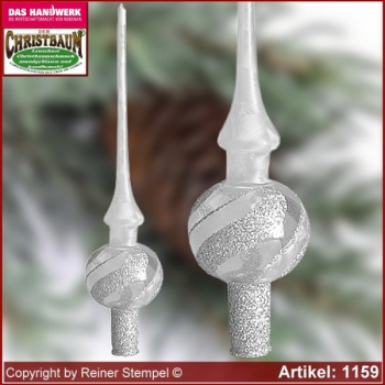 Christmas tree ornaments glass tree top Frost