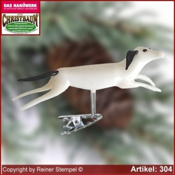 Christmas tree ornaments hound glass figure glass shape Collectible Lauscha Glass Art ®