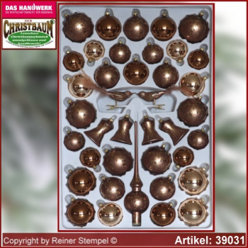 Christmas tree decorations 39-piece assortment The Mystery of the wood