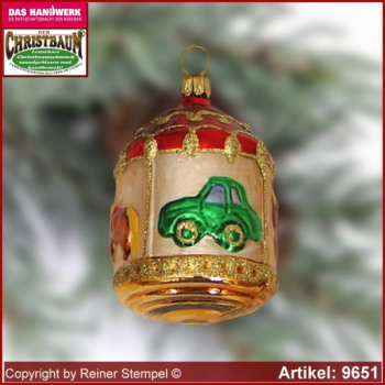 Christmas tree ornaments carousel glass figure glass shape Collectible