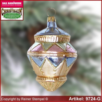 Christmas tree ornaments gyroscope glass figure glass shape Collectible