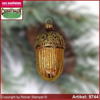 Christmas tree ornaments acorn glass figure glass shape Collectible