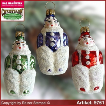Christmas tree ornaments snow child glass figure glass shape Collectible