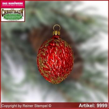 Christmas tree ornaments glass nut glass shape Collectible