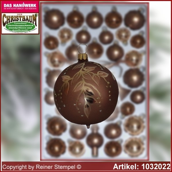 Christmas tree decorations - assortment The Mystery of the wood - Glass ball 6cm Ø 4pc./box
