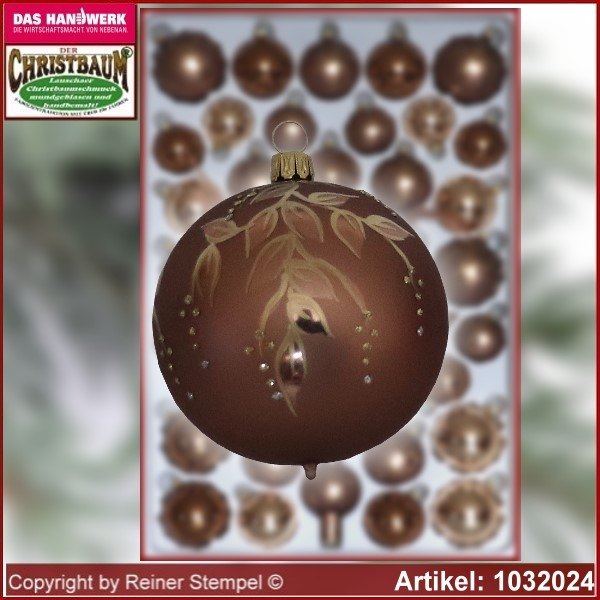 Christmas tree decorations - assortment The Mystery of the wood - Glass ball 8cm Ø 3pc./box