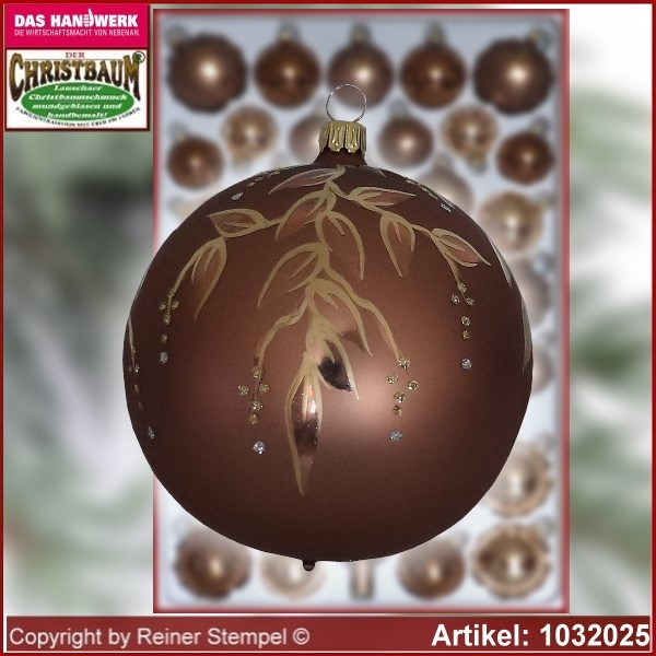 Christmas tree decorations - assortment The Mystery of the wood - Glass ball 10cm Ø 2pc./box