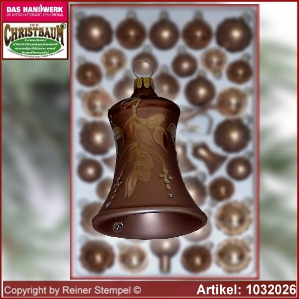 Christmas tree decorations - assortment The Mystery of the wood - Glass bell 5cm 3pc./box