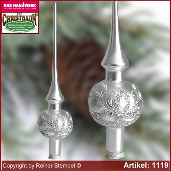Christmas tree ornaments glass tree top Antique Lauscha Glass Art ®.