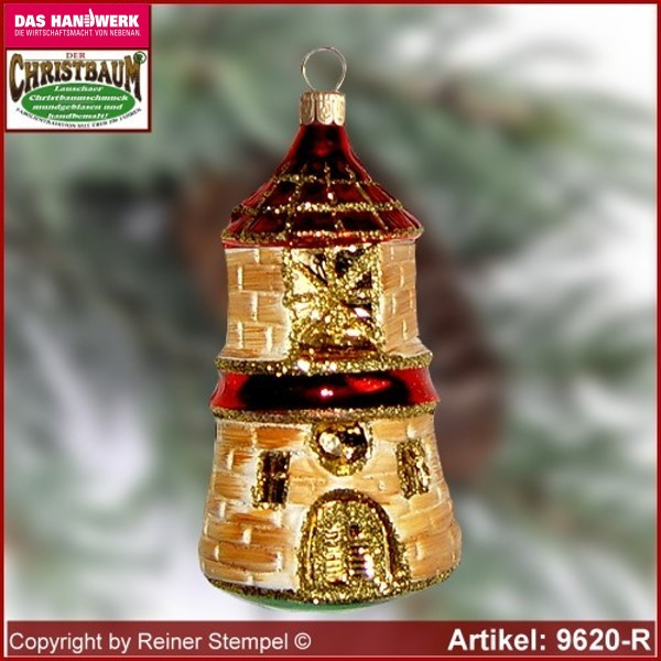 Christmas tree ornaments Lighthouse glass figure glass shape Collectible