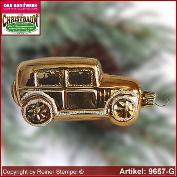 Christmas tree ornaments car glass figure glass shape Collectible