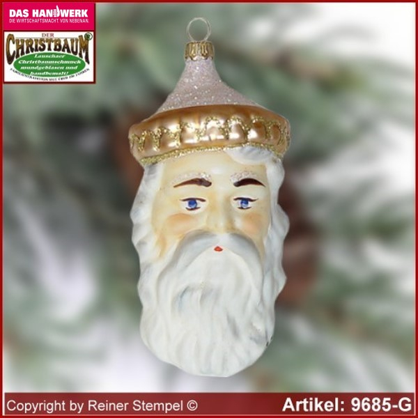 Christmas tree ornaments Old German Santa Head glass figure glass shape Collectible