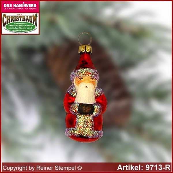 Christmas tree ornaments Santa Claus mini glass figure glass shape Collectible