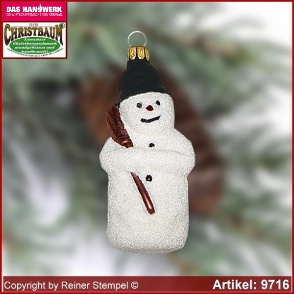 Christmas tree ornaments snowman glass figure glass shape Collectible glass from Lauscha Thüringen.