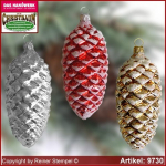 Christmas tree ornaments pinecone glass figure glass shape Collectible